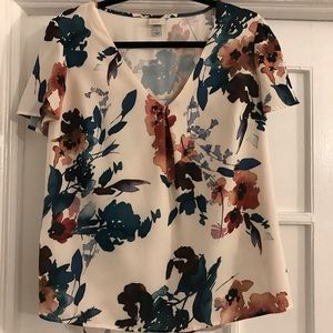 A New Day short-sleeve floral blouse